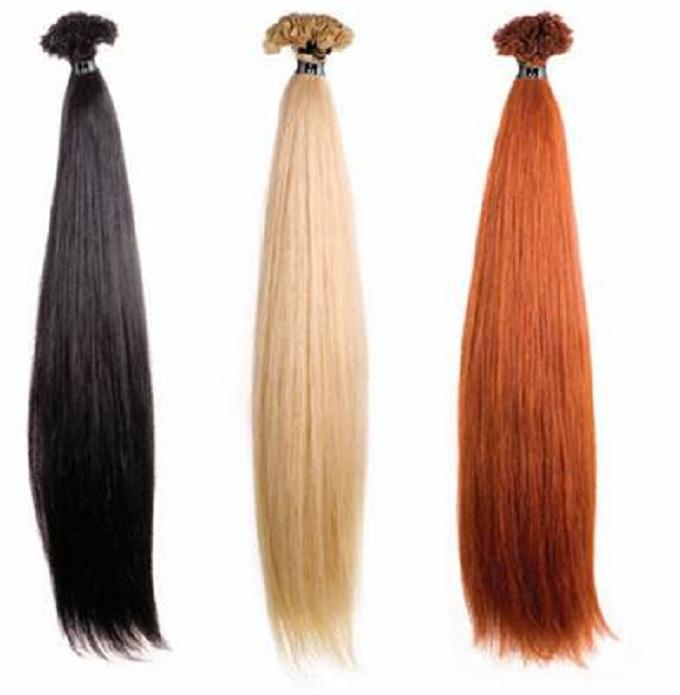 Extensiones de pelo moreno, rubio y pelirrojo