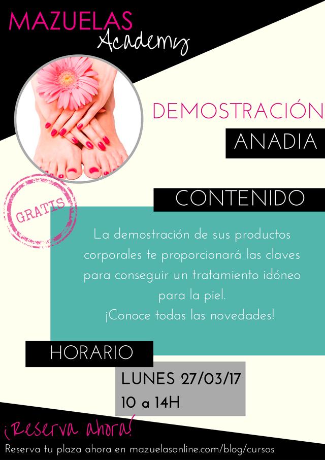 Demostración Anadia - Productos corporales