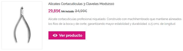 Alicates Cortacuticulas 3 Claveles Mod12110