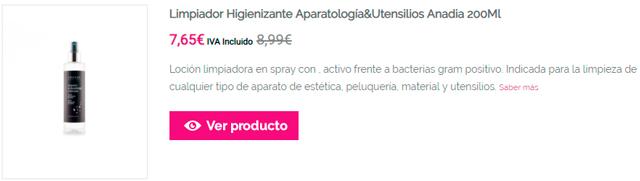 Limpiador Higienizante Aparatología&Utensilios Anadia