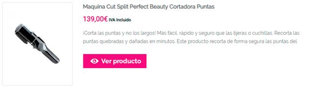 Maquina Cut Split Perfect Beauty Cortadora Puntas