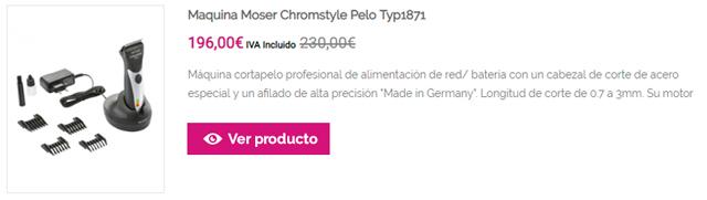 Maquina Moser Chromstyle Pelo Typ1871