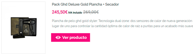 Pack Ghd Deluxe Gold Plancha + Secador