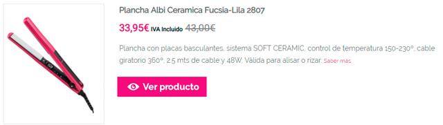 Plancha Albi Ceramica Fucsia-Lila 2807