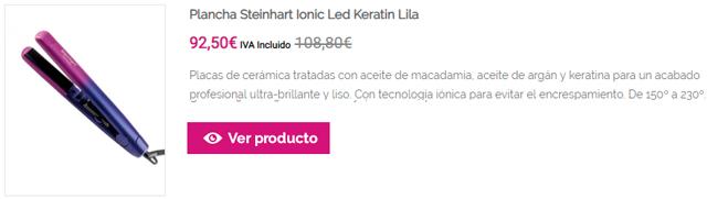Plancha Steinhart Ionic Led Keratin Lila