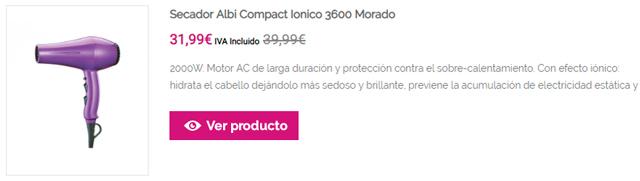 Secador Albi Compact Ionico 3600 Morado