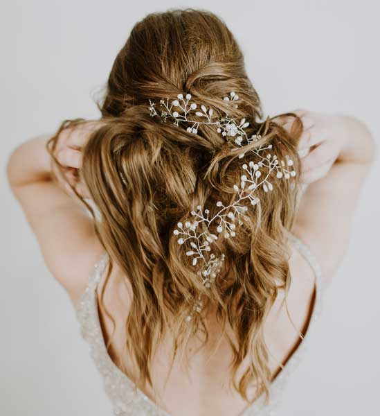 peinado con accesorios