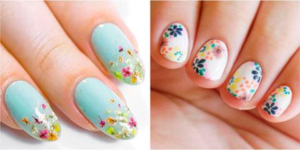 Diseño de uñas floral