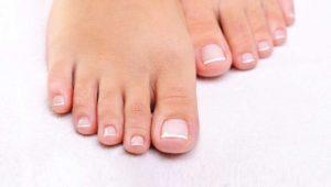 uñas de los pies perfectas