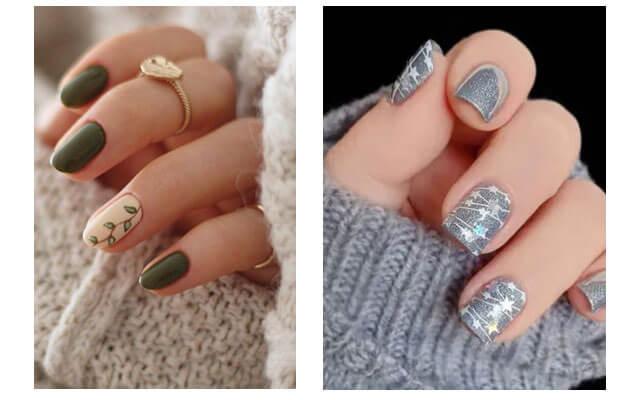 Diseños para uñas navideñas - estrellas