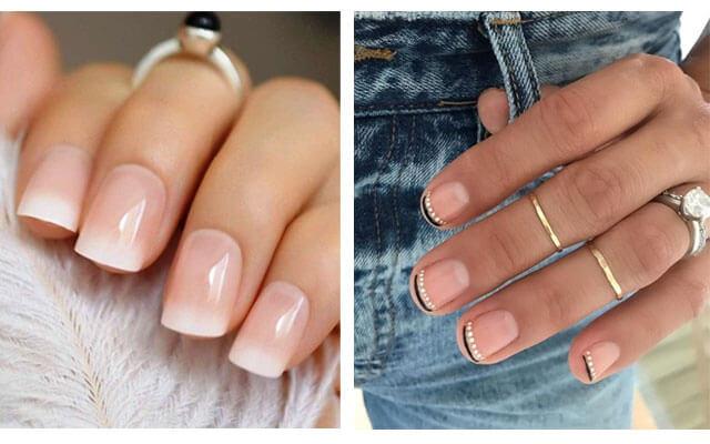 Diseños para uñas navideñas - manicura francesa