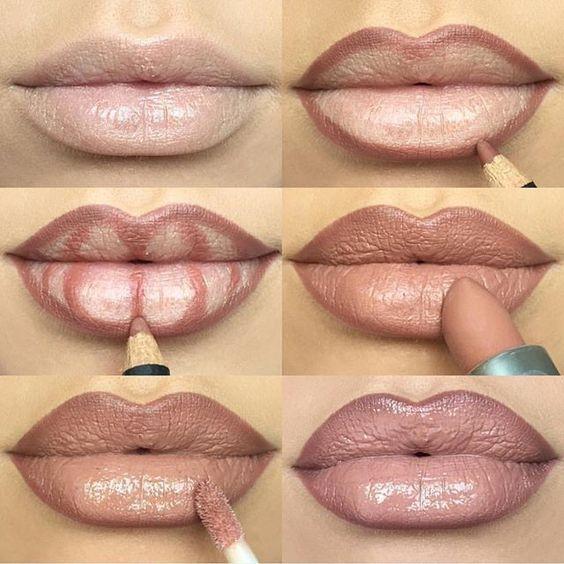 tendencias de belleza - contouring labios