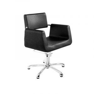 sillón negro pie estrella