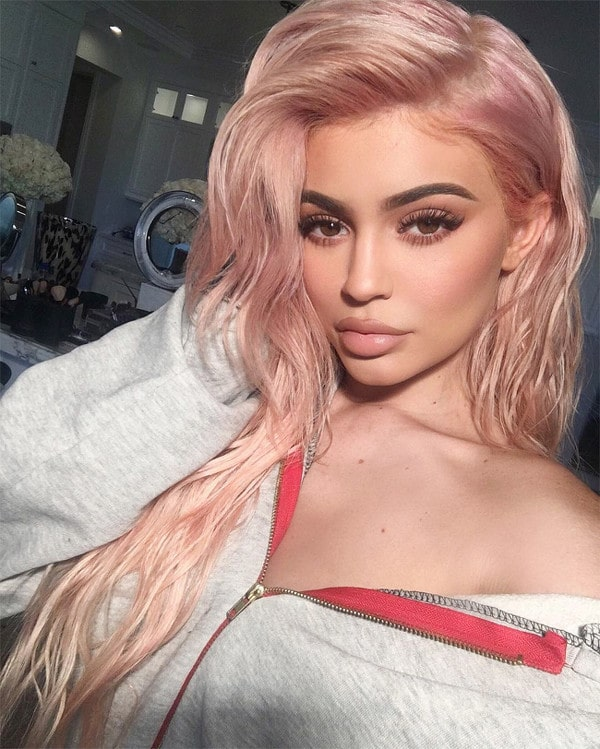 Cotton candy hair kylie jenner
